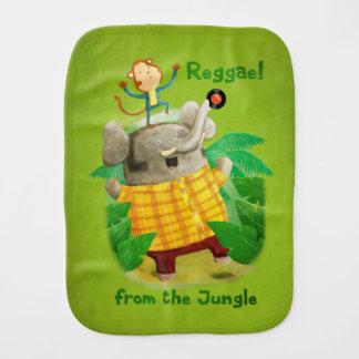 Reggae from The Jungle Baby Burp Cloth