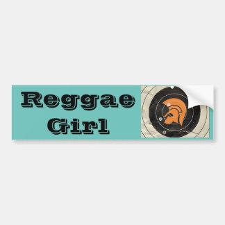 Reggae Girl Bumper Sticker