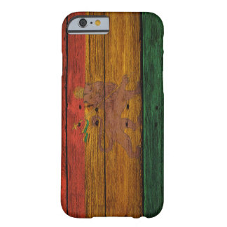reggae lion crest onvwood texture.jpg barely there iPhone 6 case