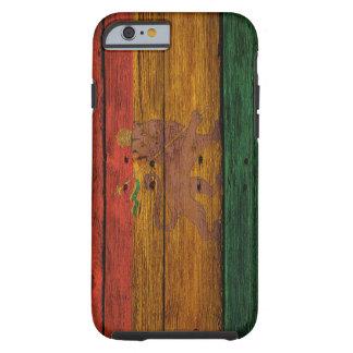 reggae lion crest onvwood texture tough iPhone 6 case