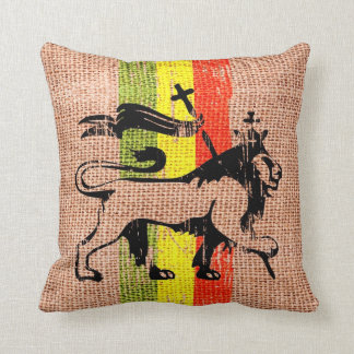 Reggae lion cushion