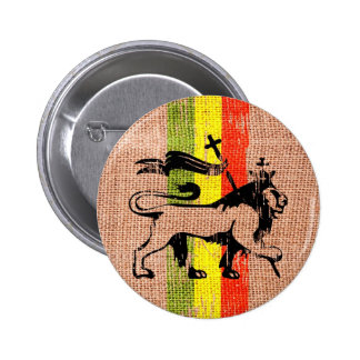 Reggae lion king 6 cm round badge