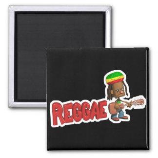 reggae music design square magnet