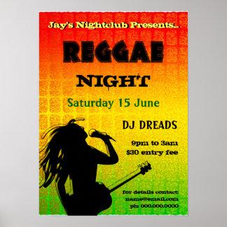 Reggae Night Party Nightclub Poster