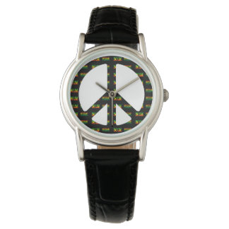 Reggae One Love Peace Sign Watch