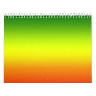 Reggae Rainbow Flag design Calendars
