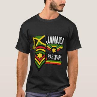 Reggae Rasta Black T-shirt Rastafarian colors