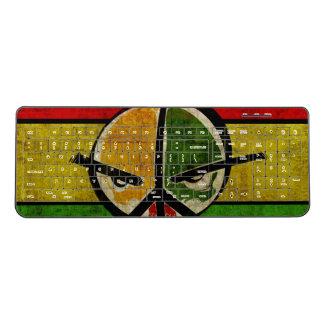 reggae rasta graffiti peace sign art wireless keyboard