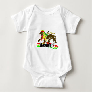 Reggae Rasta Iron, Lion, Zion 2 Baby Bodysuit