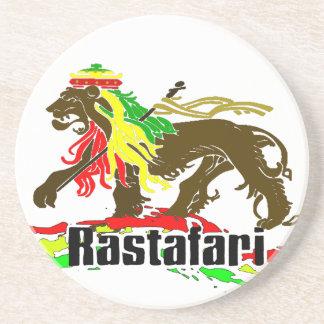 Reggae Rasta Iron, Lion, Zion 2 Sandstone Coaster