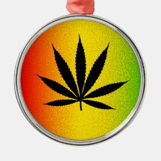 Reggae Rasta Leaf Jamaican Premium Round Ornament