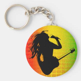 Reggae Rasta Rastafarian Classic Round Keychain