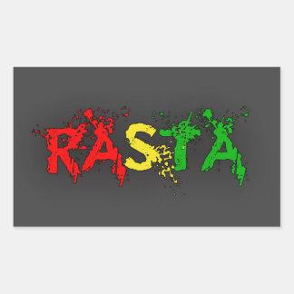 Reggae Rasta Rectangular Sticker