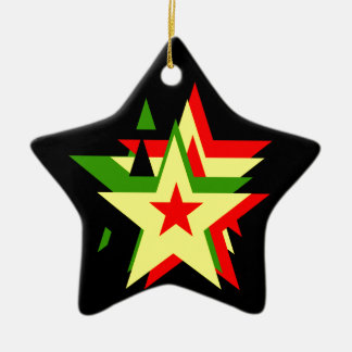 Reggae star ceramic ornament