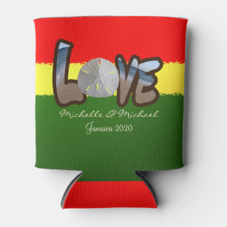 Reggae Style Sand dollar Love Can Cooler