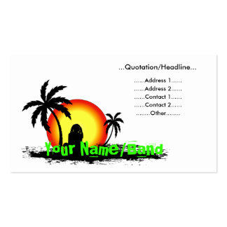 Reggae sunset Double-Sided standard business cards (Pack of 100)