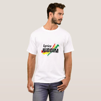Reggae T-shirt - Lyrics Riddim
