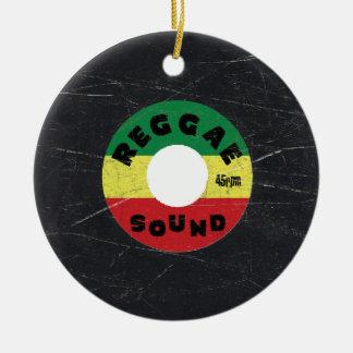 Reggae Vinyl Record Christmas Ornament