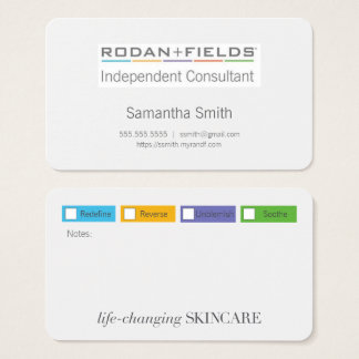 Regimen Biz Cards with Color Checkboxes