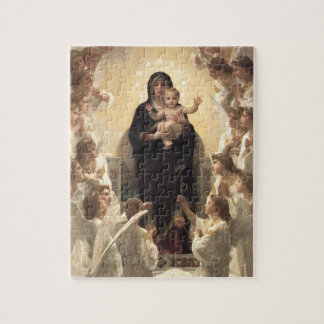 Regina Angelorum by Bouguereau, Victorian Angels Jigsaw Puzzle