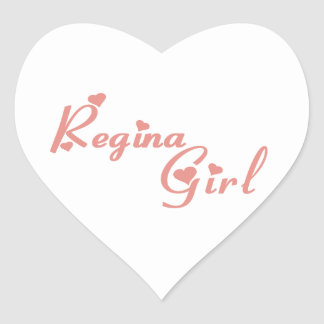 Regina Girl Heart Sticker