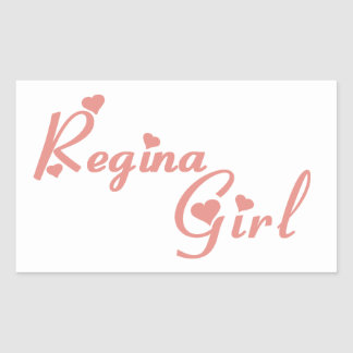 Regina Girl Rectangular Sticker