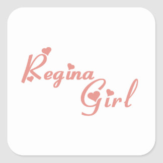 Regina Girl Square Sticker