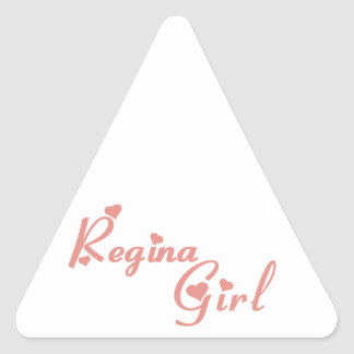Regina Girl Triangle Sticker