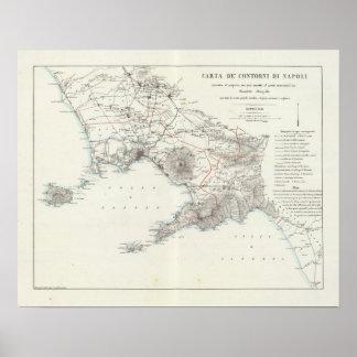 Region of Naples Italy Poster