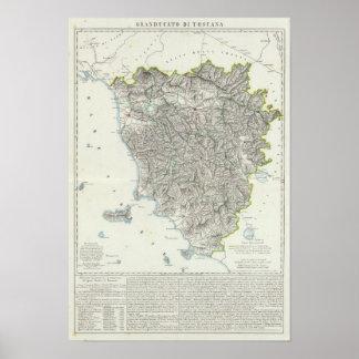 Region of Tuscany Italy Poster
