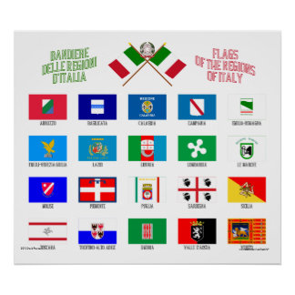 Regional Flags of Italy Poster