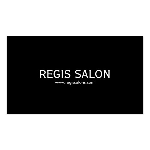 REGIS SALON, www.regissalons.com Business Card Template