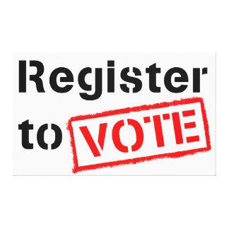 Register to Vote Canvas Prints