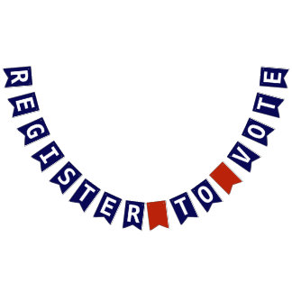 Register to Vote Red White and Blue Patriotic Bunting