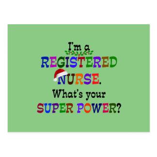 Registered Nurse, Christmas Postcard