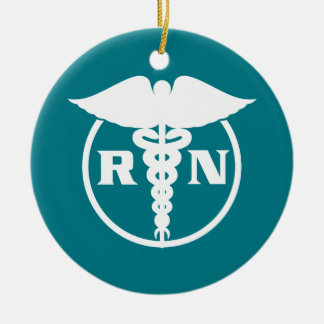 Registered Nurse Emblem Ceramic Ornament