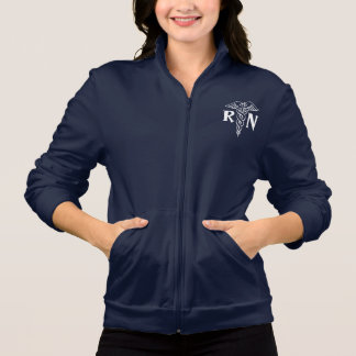 Registered nurse fleece jacket | RN with caduceus
