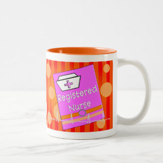 Registered Nurse Gifts Two-Tone Coffee Mug