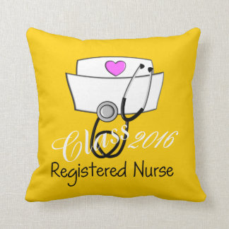 Registered Nurse Graduation Yellow 2016 Throw Pillow