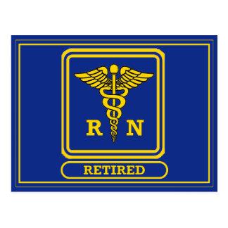 Registered Nurse Retired Postcard