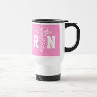 Registered Nurse travel mug | RN with caduceus