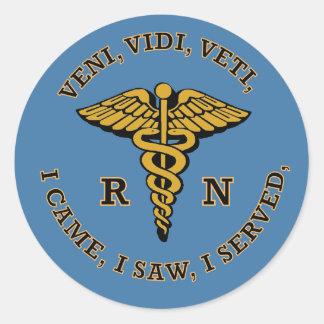 Registered Nurse VVV Classic Round Sticker