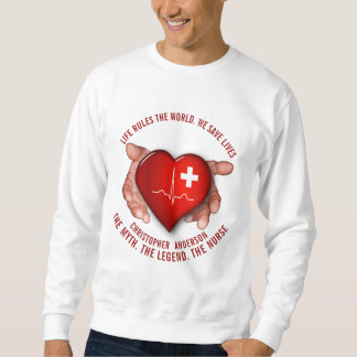 Registered Nurse With Red Heart In Hands Sweatshirt