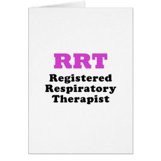 Registered Respiratory Therapist Card