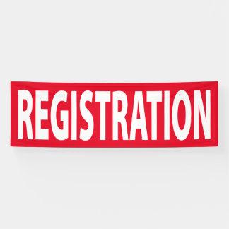 Registration Banner for Event or Conference