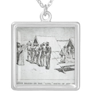 Registration Booths Silver Plated Necklace