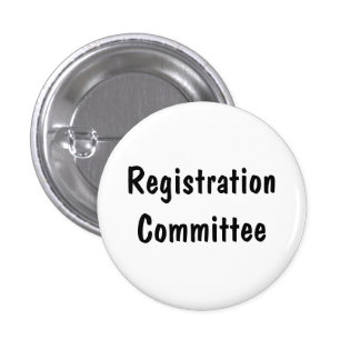 Registration Committee Pinback Button