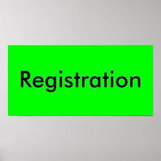 Registration Poster