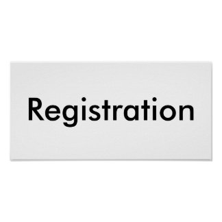 Registration Posters