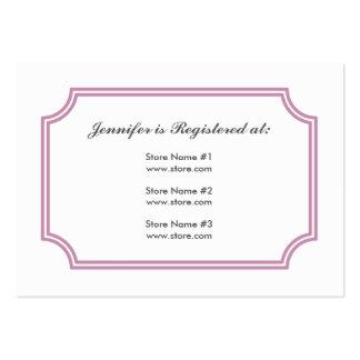 baby shower registry business cards 174 baby shower registry busines card template designs. Black Bedroom Furniture Sets. Home Design Ideas